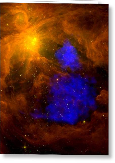 Nasa Greeting Cards - An X-Ray Santa Claus in Orion Greeting Card by Space Art Pictures