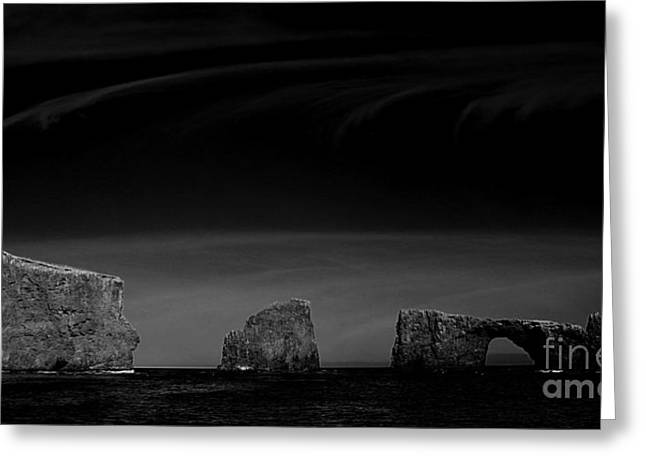 Ventura California Greeting Cards - Anacapa Islands Bw Greeting Card by Cheryl Young