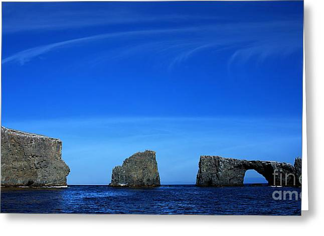Ventura California Greeting Cards - Anacapa Islands color Greeting Card by Cheryl Young