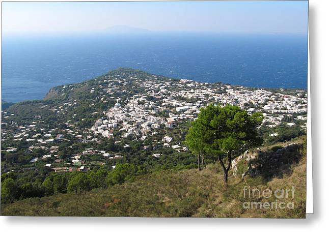Italian Islands Greeting Cards - Anacapri Monte Solaro View Greeting Card by Kiril Stanchev