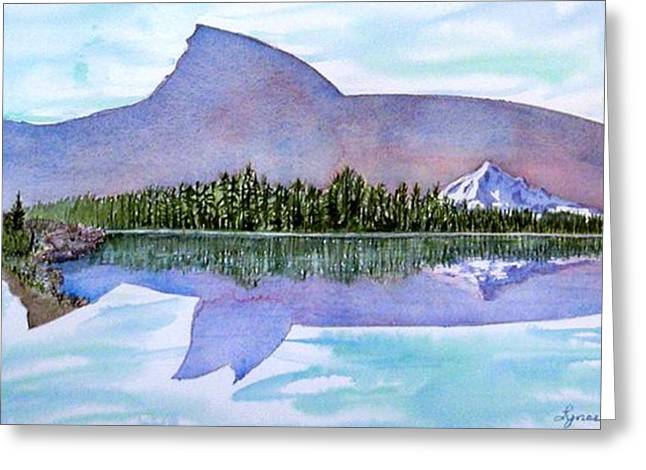 Best Sellers -  - Salmon Paintings Greeting Cards - Anadromous Dreams Greeting Card by Lynee Sapere