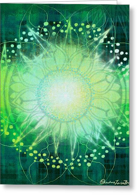 Christine Bryant Digital Greeting Cards - Anahata - Chakra 4 Greeting Card by Christine Louise Bryant