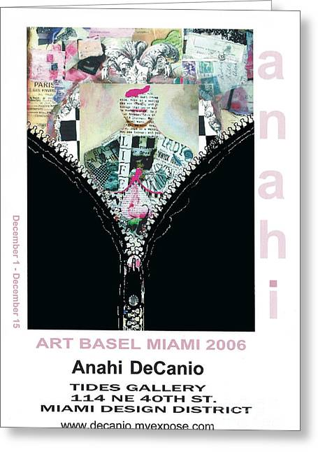 Art Exhibit Greeting Cards - Anahi DeCanio Art Basel Art Exhibit Greeting Card by Anahi DeCanio