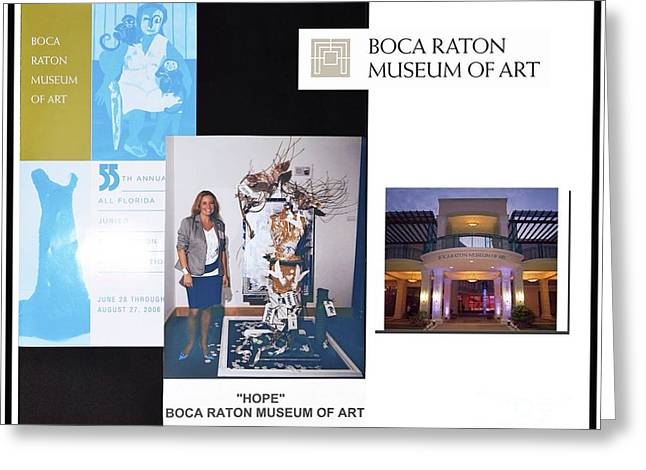 Installation Art Mixed Media Greeting Cards - Anahi DeCanio at Boca Raton Museum of Art Exhibit Greeting Card by Anahi DeCanio