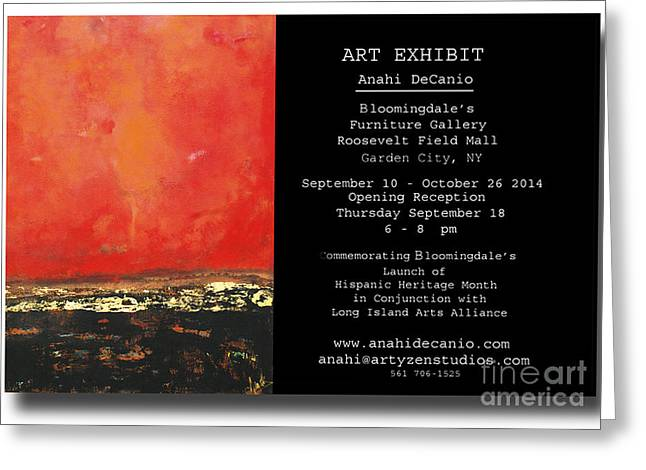 Art Exhibit Greeting Cards - Anahi DeCanio exhibits at Bloomingdales Greeting Card by Anahi DeCanio