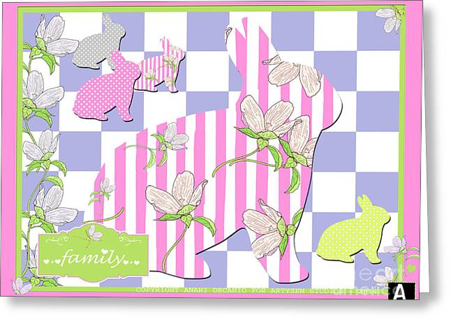 Surface Design Greeting Cards - Anahi DeCanio for ArtyZen Studios Surtex 2014  Greeting Card by Anahi DeCanio