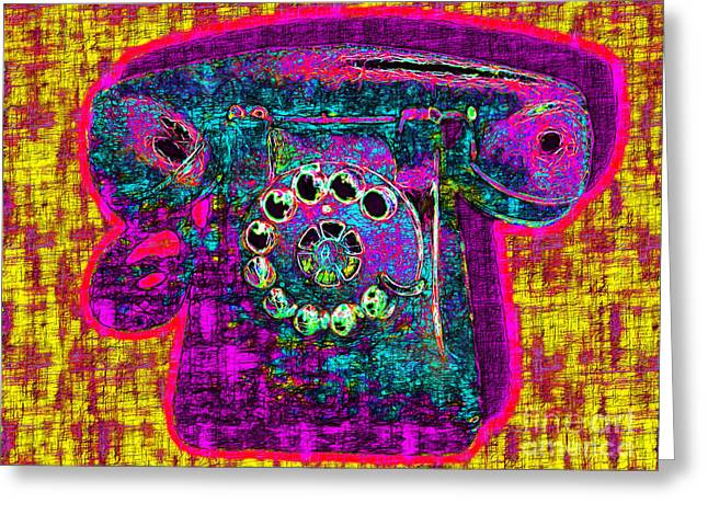 Analog Digital Art Greeting Cards - Analog A-Phone - 2013-0121 - v1 Greeting Card by Wingsdomain Art and Photography