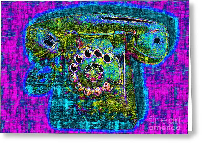 Analog Digital Art Greeting Cards - Analog A-Phone - 2013-0121 - v3 Greeting Card by Wingsdomain Art and Photography