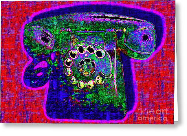 Analog Digital Art Greeting Cards - Analog A-Phone - 2013-0121 - v4 Greeting Card by Wingsdomain Art and Photography