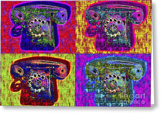 Analog Digital Art Greeting Cards - Analog A-Phone Four - 2013-0121 Greeting Card by Wingsdomain Art and Photography