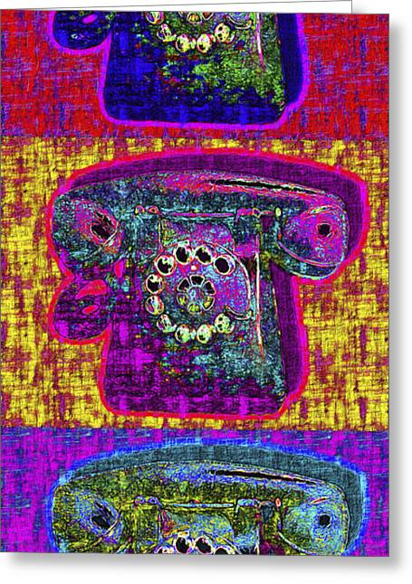 Analog Digital Art Greeting Cards - Analog A-Phone Three - 2013-0121 Greeting Card by Wingsdomain Art and Photography