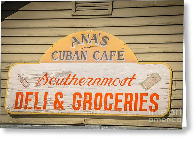Ana's Cuban Cafe Key West - Hdr Style Greeting Card by Ian Monk