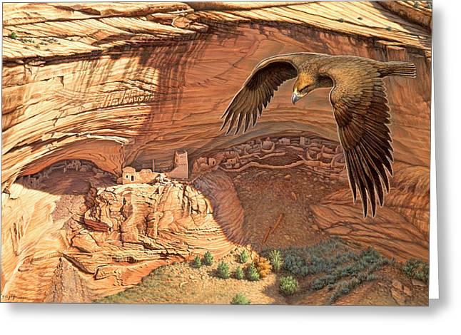 Anasazi - Ancient Ones Greeting Card by Paul Krapf
