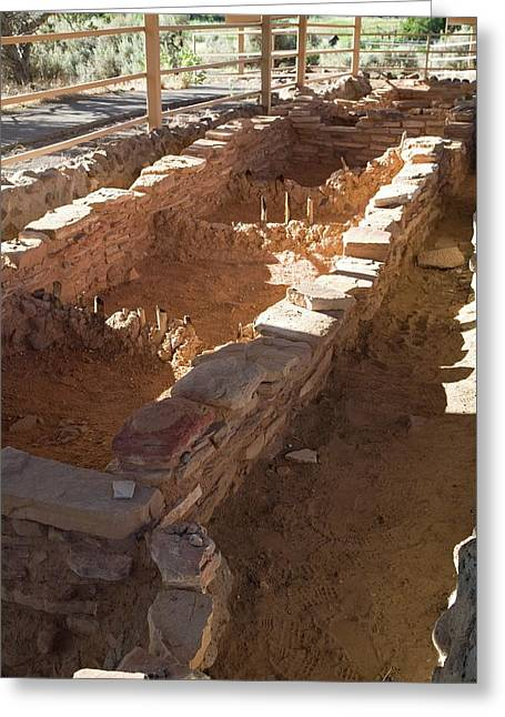 Anasazi Archaeological Excavations Greeting Card by Jim West