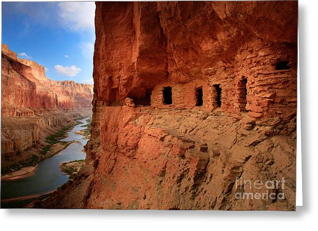 Eroded Greeting Cards - Anasazi Granaries Greeting Card by Inge Johnsson