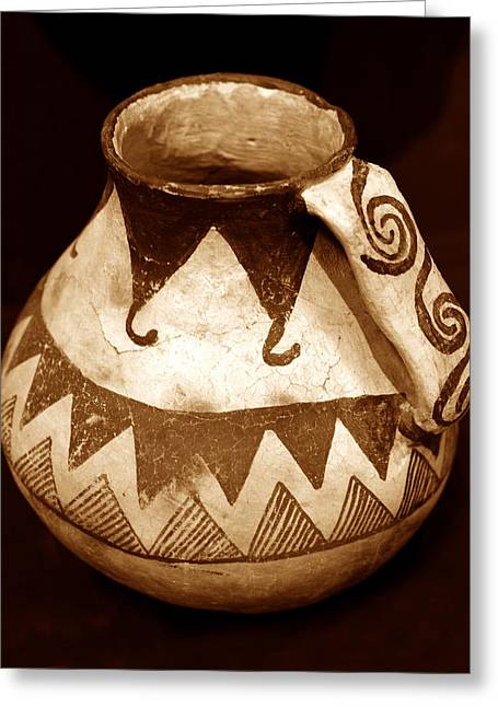 Anasazi Jug With Spiral Handle Greeting Card by David Lee Thompson