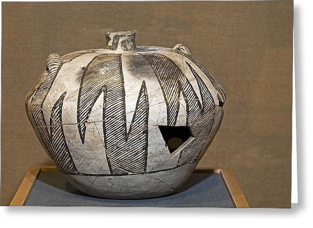 Pottery Pitcher Greeting Cards - Anasazi Pottery Greeting Card by Buddy Mays