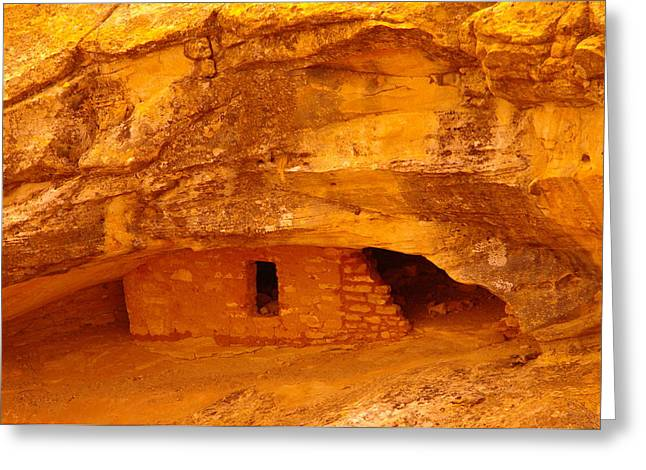 Old Relics Greeting Cards - Anasazi Ruins  Greeting Card by Jeff  Swan
