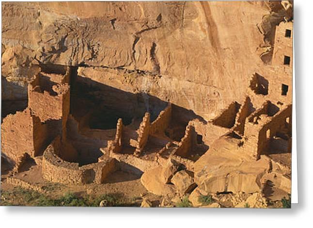 Rural Landscapes Greeting Cards - Anasazi Ruins, Mesa Verde National Greeting Card by Panoramic Images