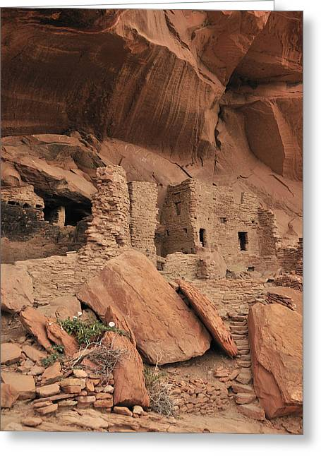 Cliff Dwellings Greeting Cards - Anasazi Villa Greeting Card by Christian Heeb