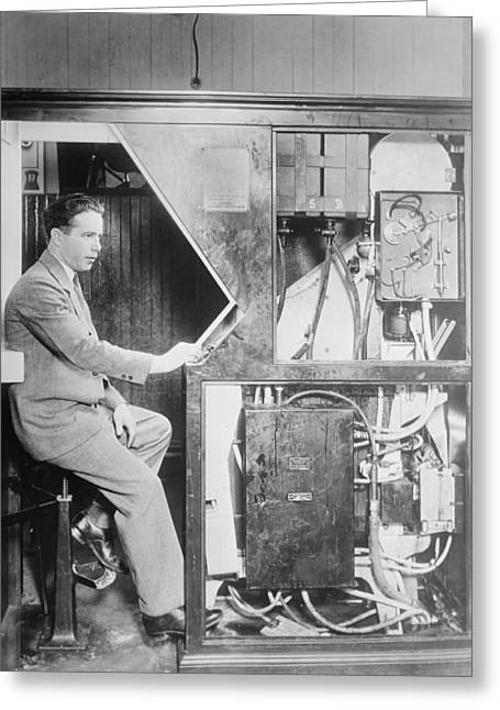 Automated Photographs Greeting Cards - Anatol Josepho, photo booth inventor Greeting Card by Science Photo Library