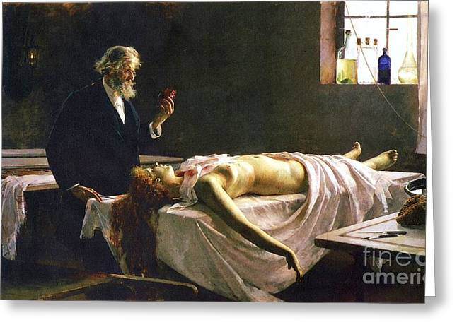Post-mortem Greeting Cards - Anatomia del Corazon Greeting Card by Pg Reproductions