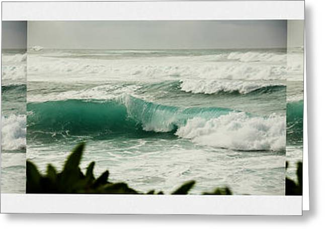 Surfing Art Greeting Cards - Anatomy of a Wave Greeting Card by Cheryl Young