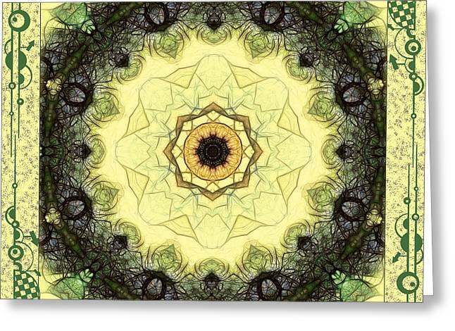 Mandala Greeting Cards - Anatomy Of Nature Mandala Greeting Card by Georgiana Romanovna
