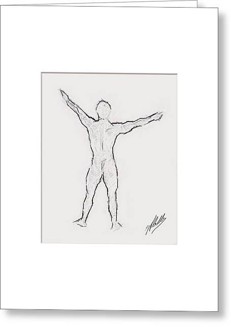 Pencil Drawing Digital Art Greeting Cards - Anatomy study Greeting Card by Joaquin Abella