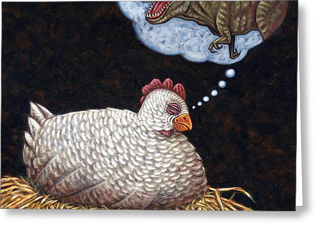 Ambition Paintings Greeting Cards - Ancestor Dreams Greeting Card by Holly Wood