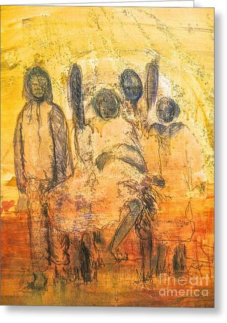 Robert Daniels Paintings Greeting Cards - Ancestorial Family Greeting Card by Robert Daniels