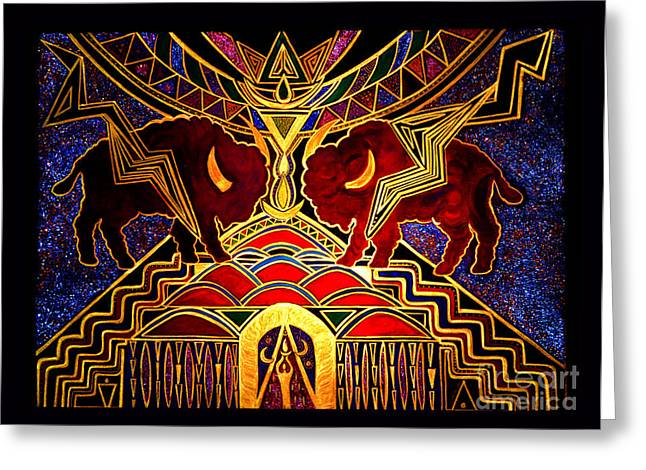 Ancestral Invocation Greeting Card by Susanne Still