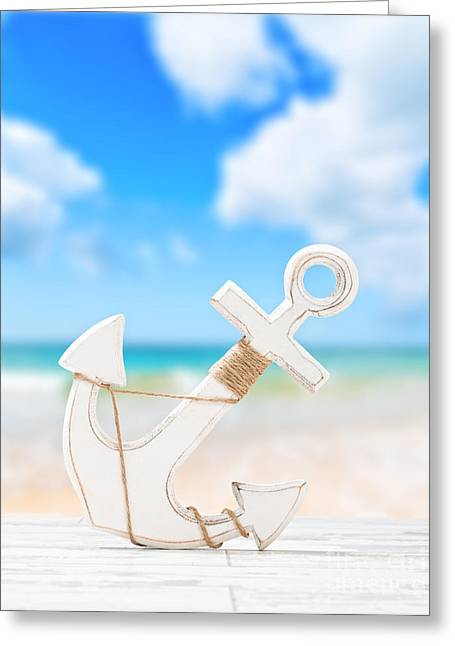 Anchor Greeting Card by Amanda And Christopher Elwell