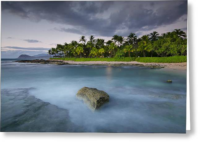 Koolina Greeting Cards - Anchor of the sea at Koolina Greeting Card by Tin Lung Chao