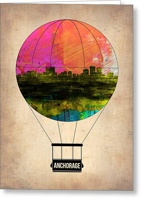 Tourists Greeting Cards - Anchorage Air Balloon  Greeting Card by Naxart Studio