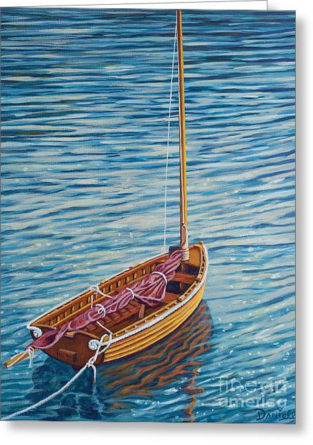 Sailboat Art Greeting Cards - Anchored Dreams Greeting Card by Danielle  Perry