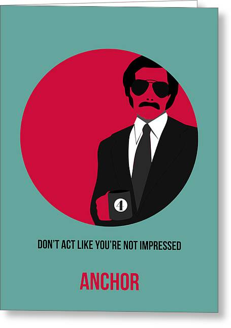 Burgundy Digital Art Greeting Cards - Anchorman Poster 1 Greeting Card by Naxart Studio