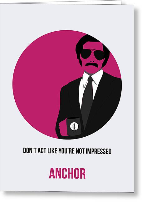 Shows Greeting Cards - Anchorman Poster 2 Greeting Card by Naxart Studio