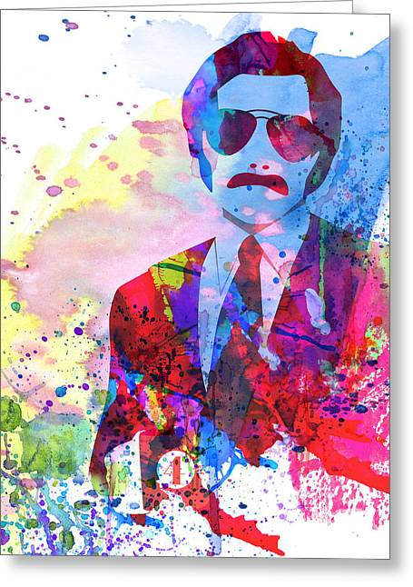 Burgundy Greeting Cards - Anchorman Watercolor 2 Greeting Card by Naxart Studio