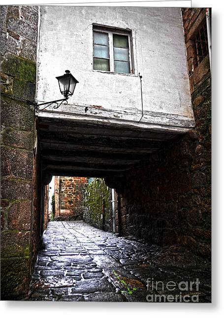 Galicia Greeting Cards - Ancient alley In Tui Greeting Card by RicardMN Photography