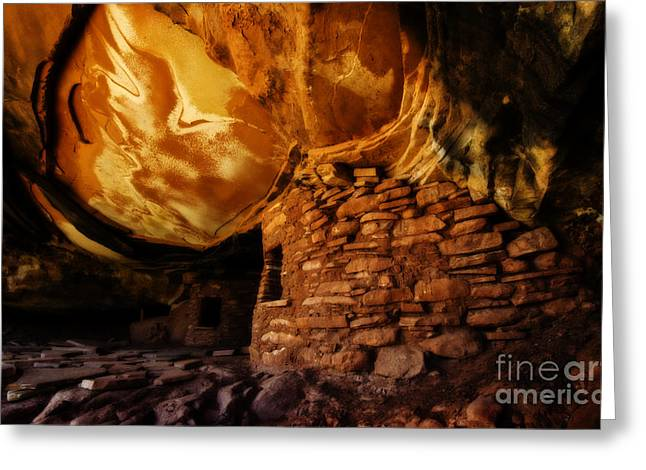 Cliff Dwellers Greeting Cards - Ancient Secrets 1 Greeting Card by Bob Christopher