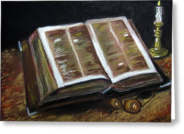 Bible Pastels Greeting Cards - Ancient and Wise Greeting Card by Mike Benton