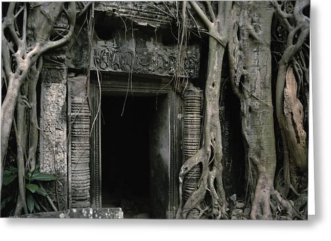 Ancient Angkor Greeting Card by Shaun Higson