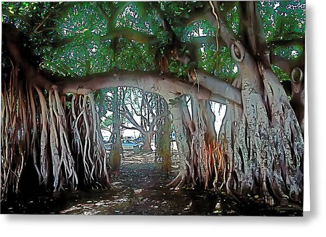 Ala Moana Greeting Cards - Ancient Arch Greeting Card by Terry Reynoldson