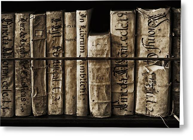 Religious Greeting Cards - Ancient books Greeting Card by Graham Moore