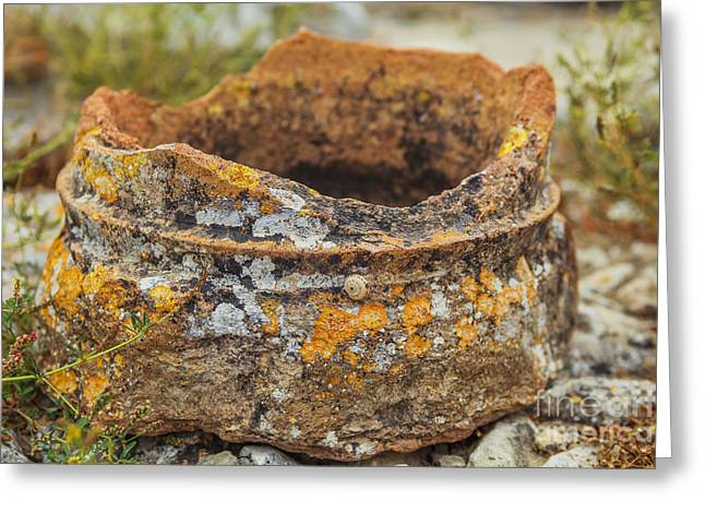 Ancient Greek Ruins Greeting Cards - Ancient broken pot Greeting Card by Patricia Hofmeester