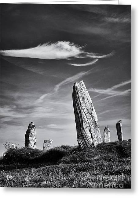 Bronze Age Greeting Cards - Ancient Callanish  Greeting Card by Tim Gainey