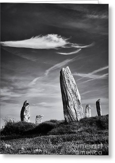 Sacred Circle Greeting Cards - Ancient Callanish  Greeting Card by Tim Gainey