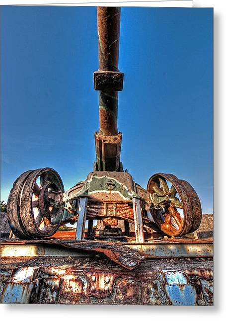 Artillery Gun Greeting Cards - Ancient Cannon from WW2 Greeting Card by Gill Billington