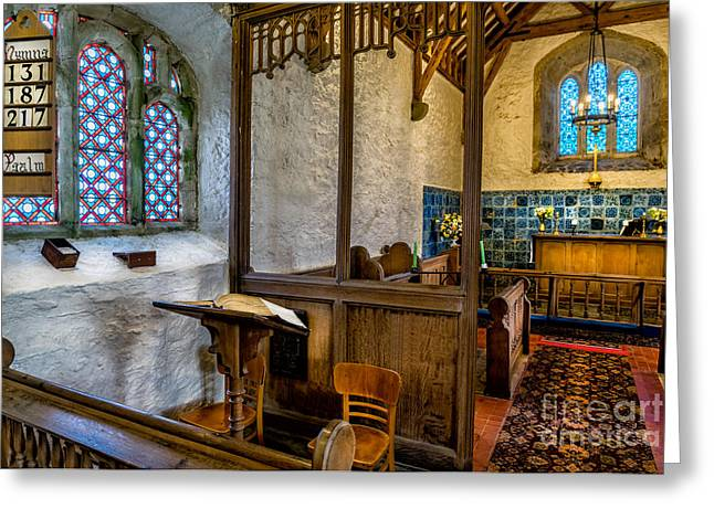 Religious Digital Art Greeting Cards - Ancient Chapel 2 Greeting Card by Adrian Evans